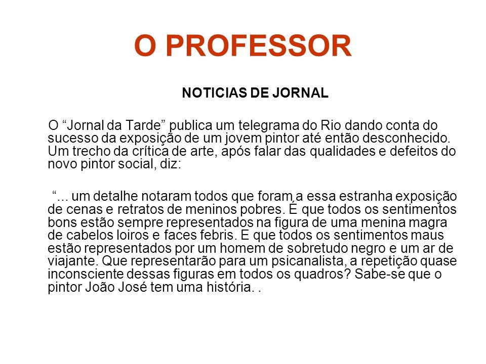 O PROFESSOR NOTICIAS DE JORNAL O Jornal da Tarde publica um telegrama do Rio dando conta do sucesso da exposição de um jovem pintor até então desconhe