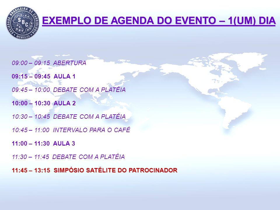 09:00 – 09:15 ABERTURA 09:15 – 09:45 AULA 1 09:45 – 10:00 DEBATE COM A PLATÉIA 10:00 – 10:30 AULA 2 10:30 – 10:45 DEBATE COM A PLATÉIA 10:45 – 11:00 I
