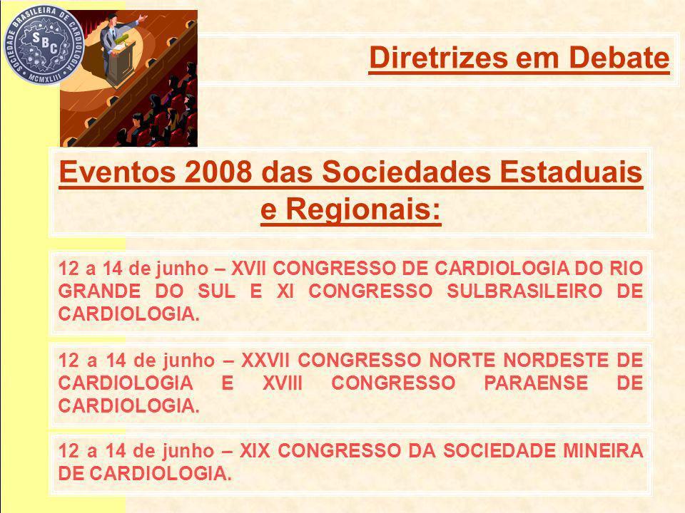 12 a 14 de junho – XVII CONGRESSO DE CARDIOLOGIA DO RIO GRANDE DO SUL E XI CONGRESSO SULBRASILEIRO DE CARDIOLOGIA.