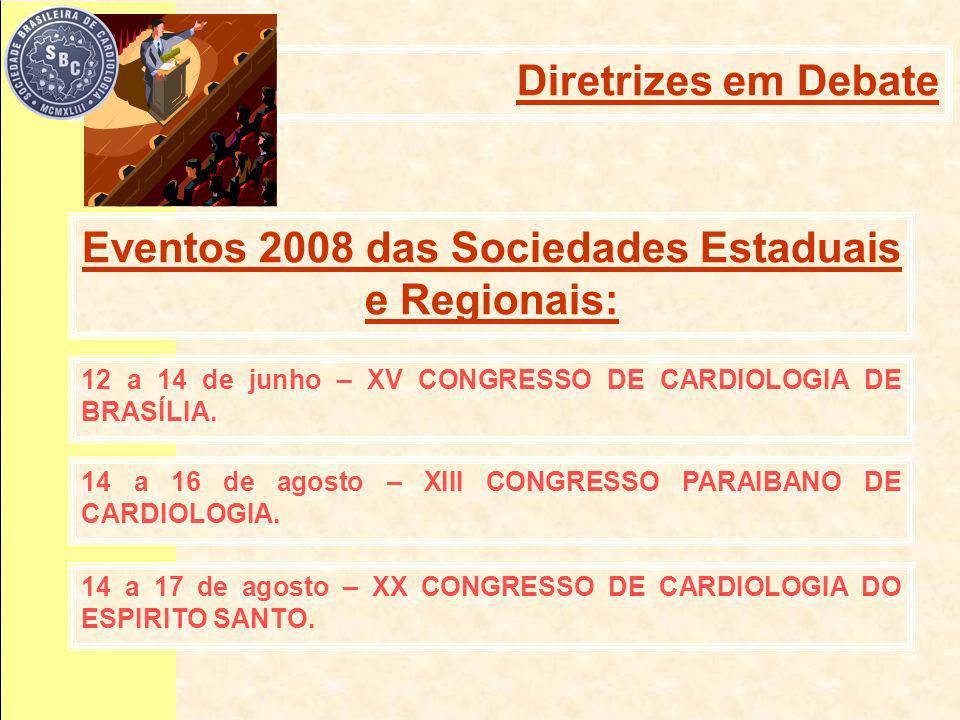 12 a 14 de junho – XV CONGRESSO DE CARDIOLOGIA DE BRASÍLIA.