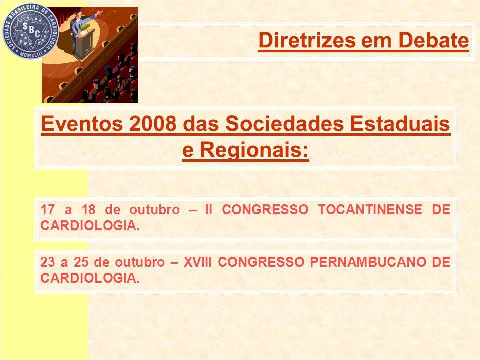 17 a 18 de outubro – II CONGRESSO TOCANTINENSE DE CARDIOLOGIA.