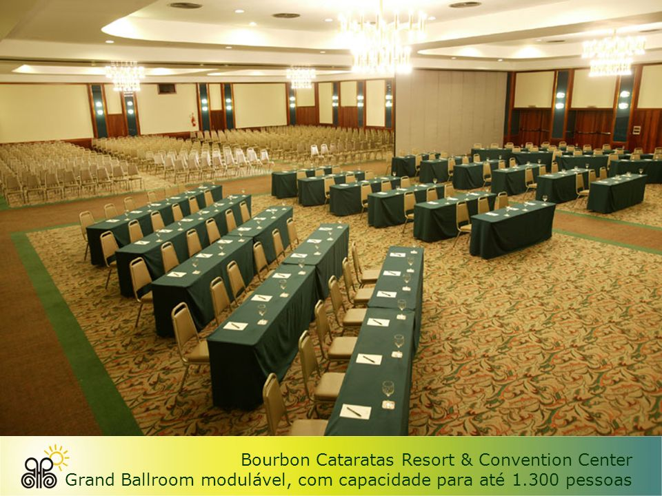 Bourbon Cataratas Resort & Convention Center Pavilhão de exposições com 1.320 m 2
