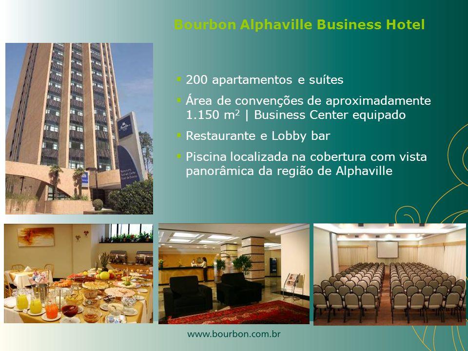 200 apartamentos e suítes Área de convenções de aproximadamente 1.150 m 2 | Business Center equipado Restaurante e Lobby bar Piscina localizada na cob