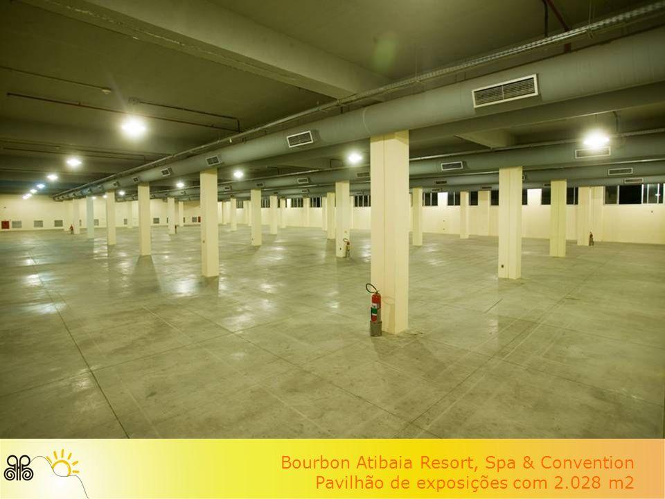 Bourbon Atibaia Resort, Spa & Convention Pavilhão de exposições com 2.028 m2