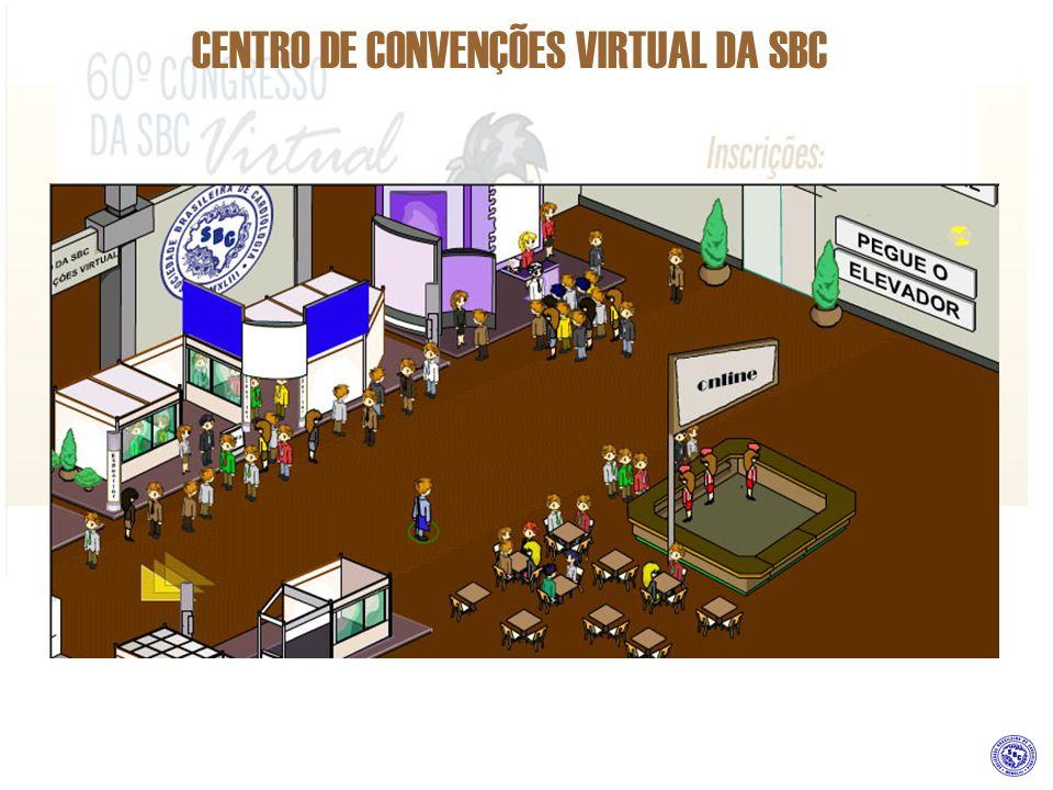CENTRO DE CONVENÇÕES VIRTUAL DA SBC COMO PATROCINAR ESTANDES 1 Unidade de Estande dos tipos A, B ou C.