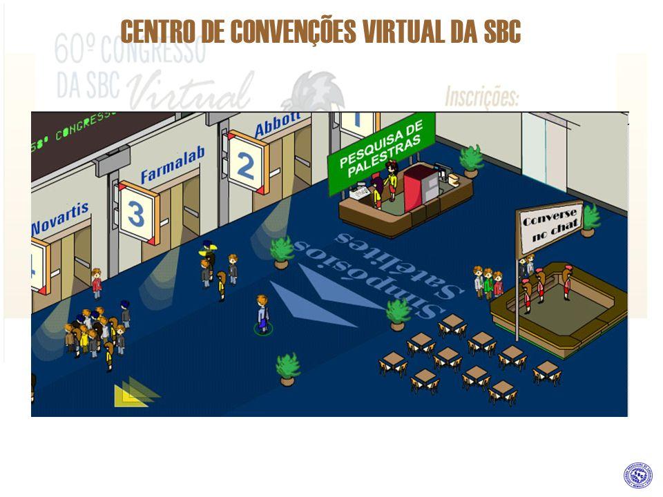 CENTRO DE CONVENÇÕES VIRTUAL DA SBC COMO PATROCINAR MEETING POINT Estande existente em todos os pavimentos do Centro de Convenções, com o objetivo de estabelecer Link para os participantes do evento com as áreas de Chat e Forum.