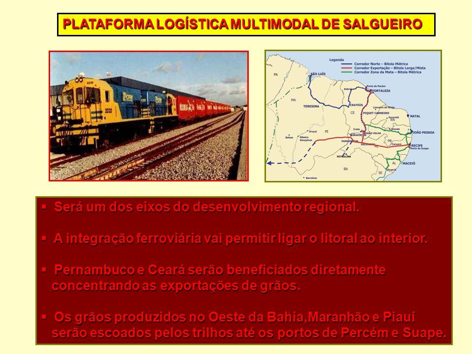 Será um dos eixos do desenvolvimento regional. Será um dos eixos do desenvolvimento regional. A integração ferroviária vai permitir ligar o litoral ao