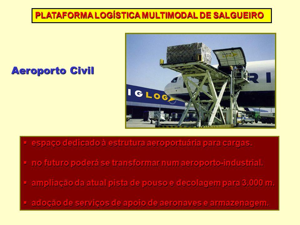 espaço dedicado à estrutura aeroportuária para cargas.