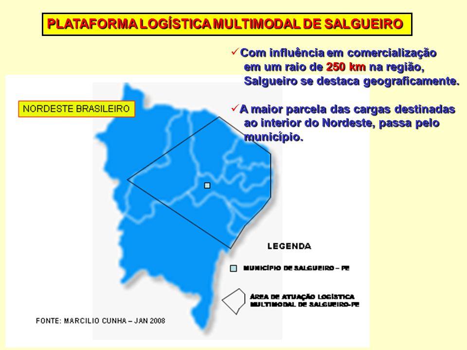 Com influência em comercialização Com influência em comercialização em um raio de 250 km na região, em um raio de 250 km na região, Salgueiro se destaca geograficamente.