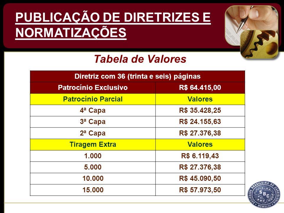 A Tiragem Extra está condicionada ao patrocínio de uma das Capas da Publicação Oficial.