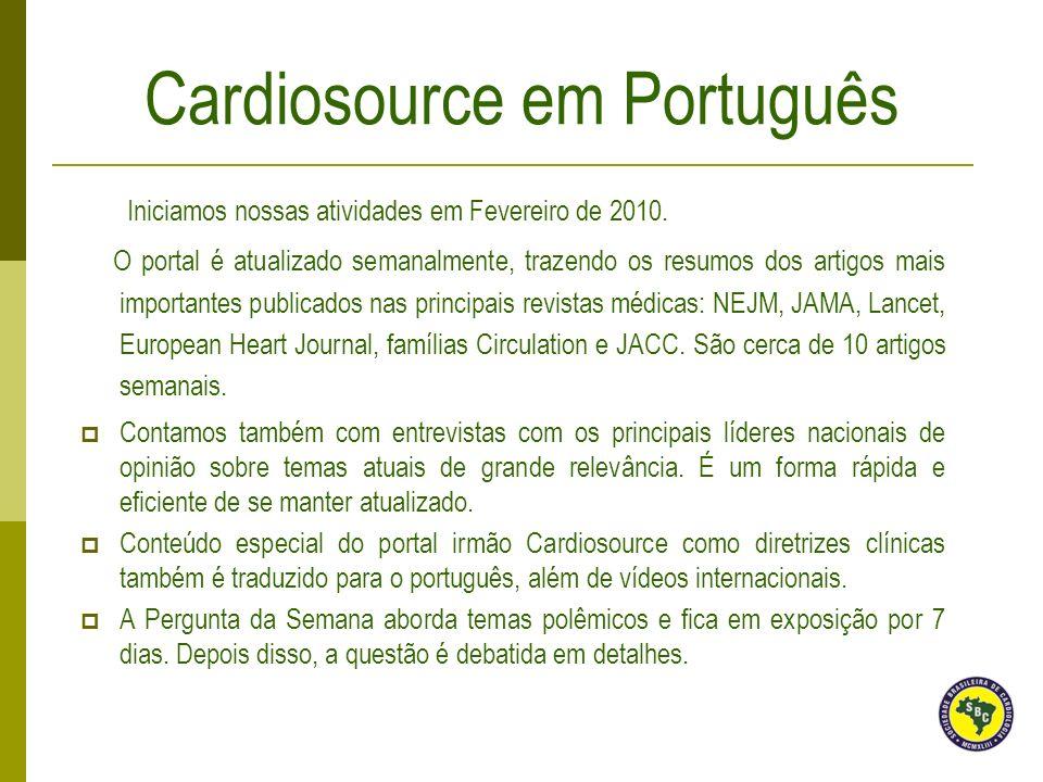 Iniciamos nossas atividades em Fevereiro de 2010. O portal é atualizado semanalmente, trazendo os resumos dos artigos mais importantes publicados nas