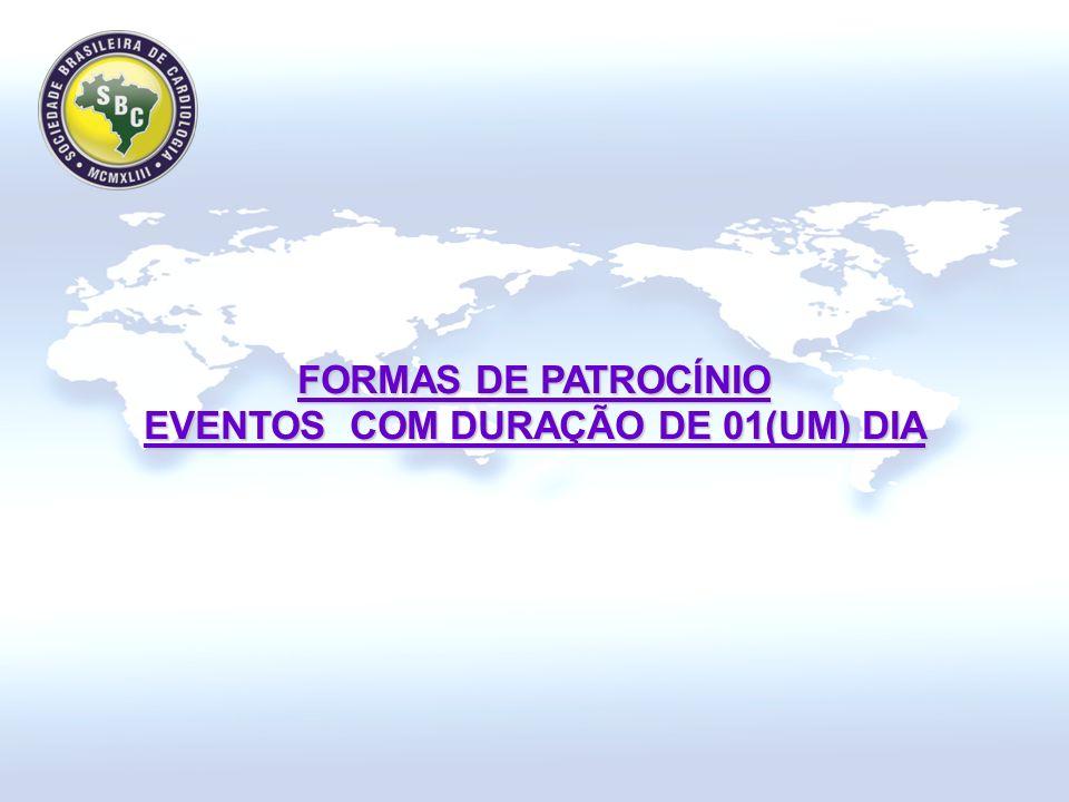 FORMAS DE PATROCÍNIO EVENTOS COM DURAÇÃO DE 01(UM) DIA