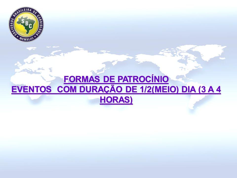 FORMAS DE PATROCÍNIO EVENTOS COM DURAÇÃO DE 1/2(MEIO) DIA (3 A 4 HORAS)