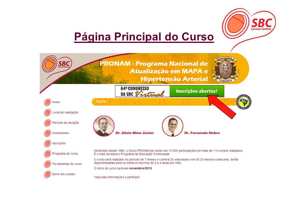 Página Principal do Curso
