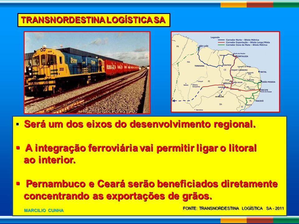 Será um dos eixos do desenvolvimento regional. Será um dos eixos do desenvolvimento regional. A integração ferroviária vai permitir ligar o litoral A