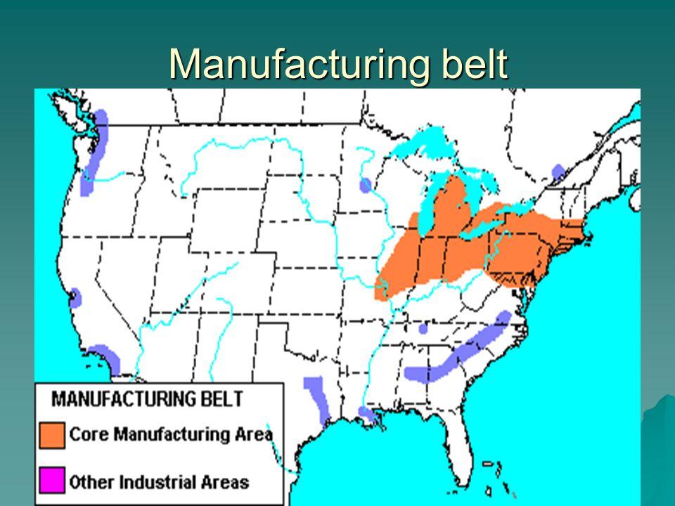Manufacturing belt