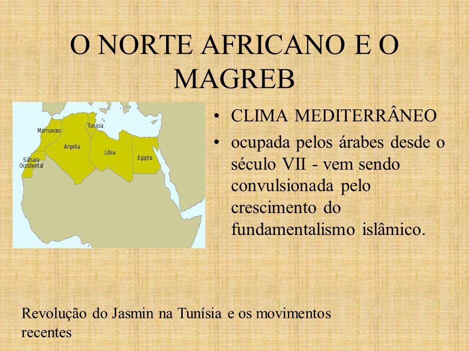 O NORTE AFRICANO E O MAGREB CLIMA MEDITERRÂNEO ocupada pelos árabes desde o século VII - vem sendo convulsionada pelo crescimento do fundamentalismo i