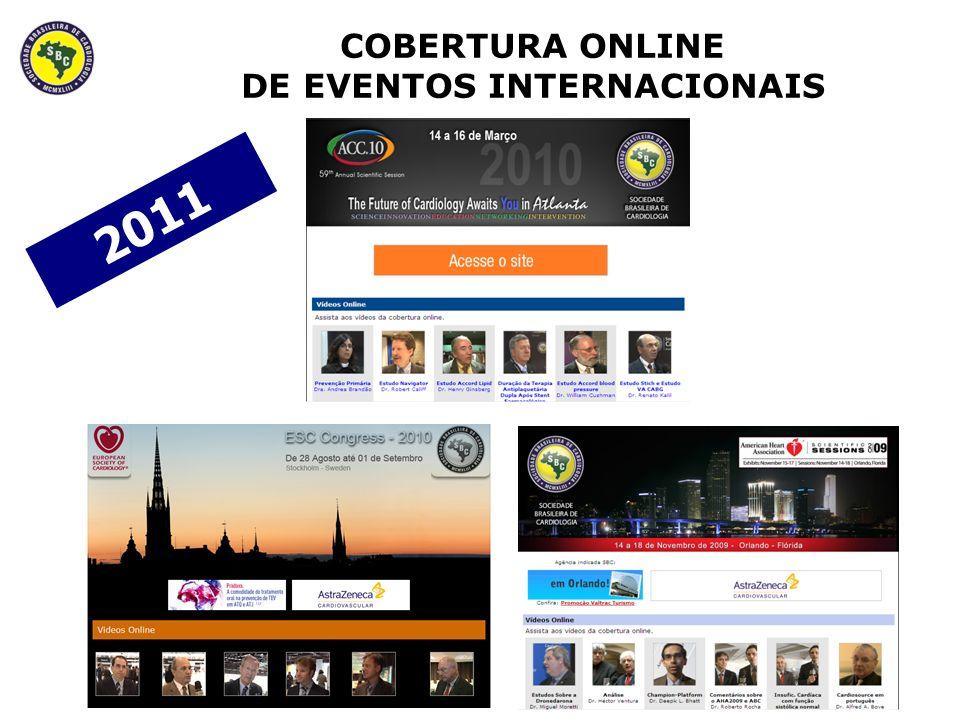 COBERTURA ONLINE DE EVENTOS INTERNACIONAIS 2011
