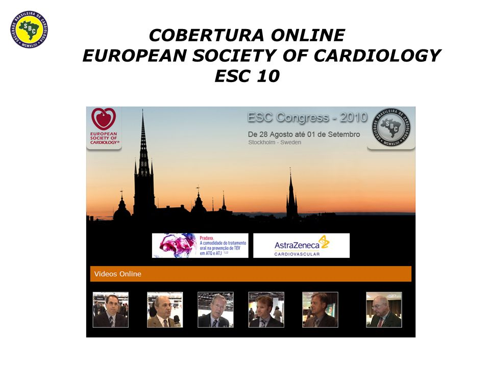 COBERTURA ONLINE EUROPEAN SOCIETY OF CARDIOLOGY ESC 10