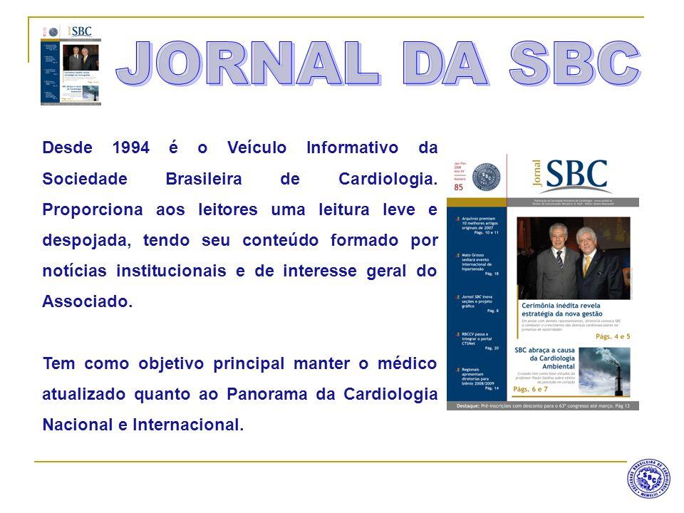 Desde 1994 é o Veículo Informativo da Sociedade Brasileira de Cardiologia. Proporciona aos leitores uma leitura leve e despojada, tendo seu conteúdo f