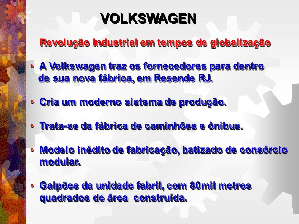 Revolução Industrial em tempos de globalização A Volkswagen traz os fornecedores para dentroA Volkswagen traz os fornecedores para dentro de sua nova