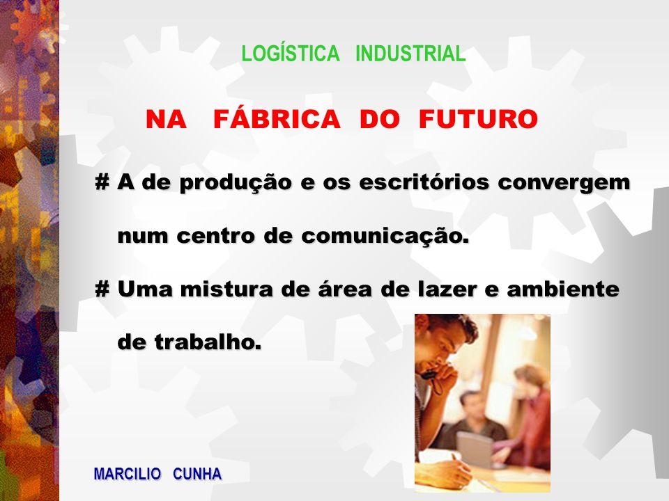 LOGÍSTICA INDUSTRIAL NA FÁBRICA DO FUTURO # A de produção e os escritórios convergem num centro de comunicação. num centro de comunicação. # Uma mistu