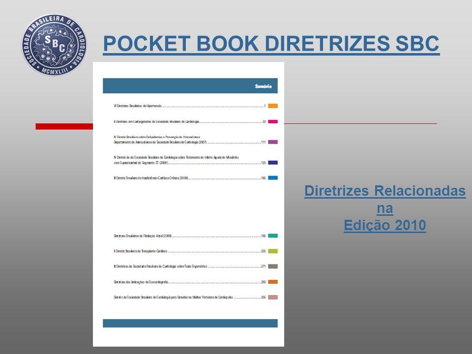 POCKET BOOK DIRETRIZES SBC Páginas da Edição 2010