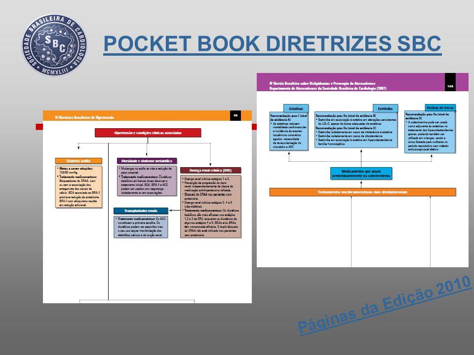 Edição de 2011: A Edição 2011 trará um resumo das principais Diretrizes & Normatizações publicadas até junho de 2011, e que permanecem atualizadas para a prática clínica diária.