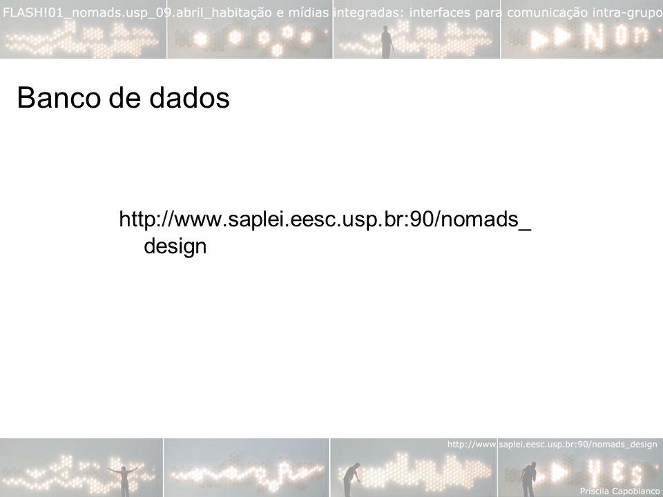 http://www.saplei.eesc.usp.br:90/nomads_ design Banco de dados
