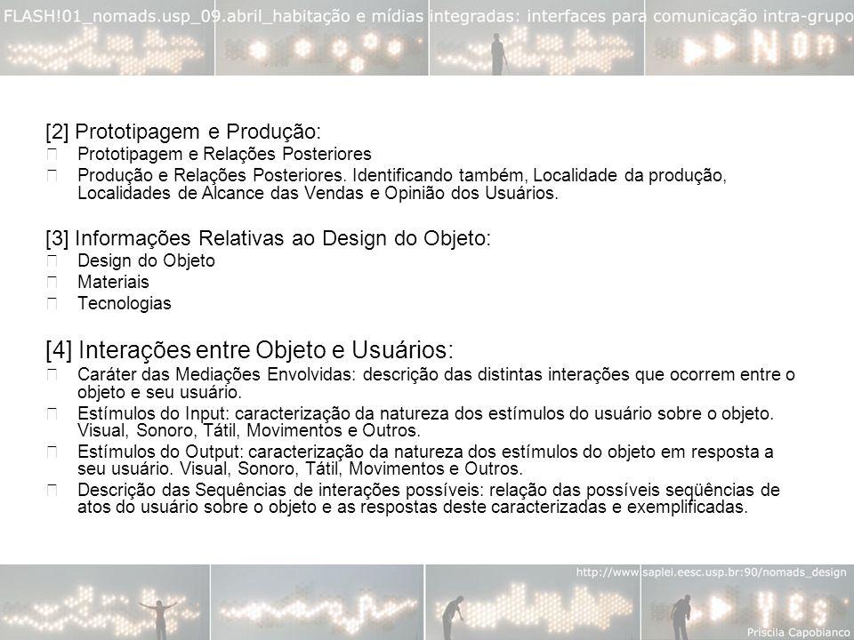[2] Prototipagem e Produção: Prototipagem e Relações Posteriores Produção e Relações Posteriores.