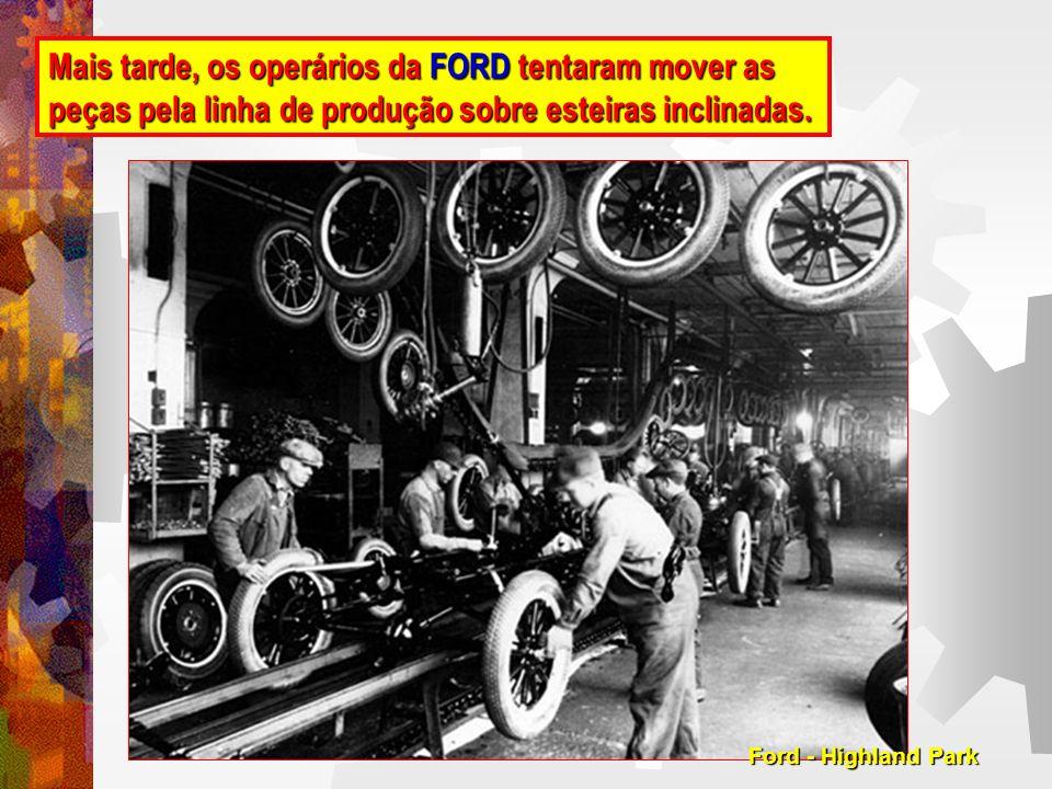 Criação da Linha Móvel, onde cada unidade se desloca ao longo da linha fixando cada componente do veículo.