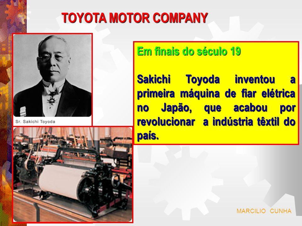 Em 1933: Kiichiro Toyoda, Kiichiro Toyoda, filho de Sakichi, filho de Sakichi, cria a divisão cria a divisão automóvel.