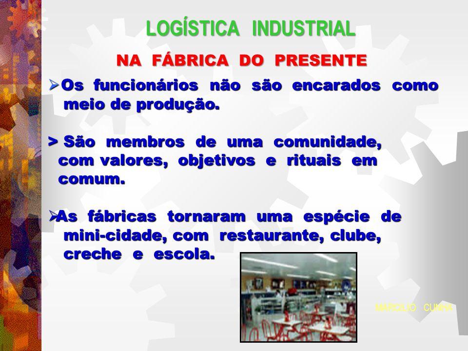LOGÍSTICA INDUSTRIAL NA FÁBRICA DO PRESENTE # As áreas de produção e os escritórios convergem num centro de comunicação.