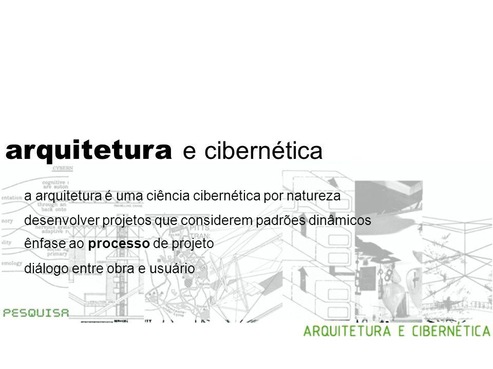 arquitetura e cibernética crise do objeto inserir o pensamento cibernético no processo projetual arquitetônico recuperar o foco no processo de projeto