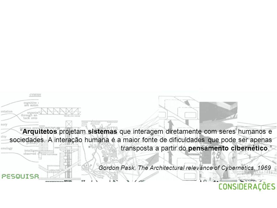 Arquitetos projetam sistemas que interagem diretamente com seres humanos e sociedades. A interação humana é a maior fonte de dificuldades que pode ser