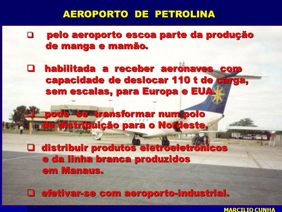pelo aeroporto escoa parte da produção pelo aeroporto escoa parte da produção de manga e mamão. de manga e mamão. habilitada a receber aeronaves com h