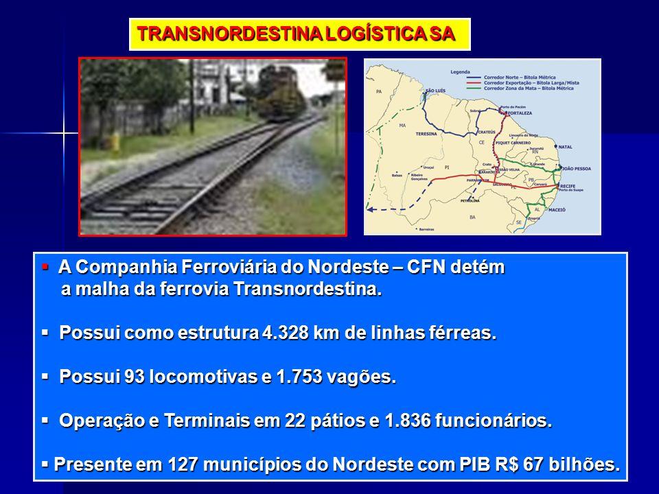 TRANSNORDESTINA LOGÍSTICA SA A Companhia Ferroviária do Nordeste – CFN detém A Companhia Ferroviária do Nordeste – CFN detém a malha da ferrovia Trans