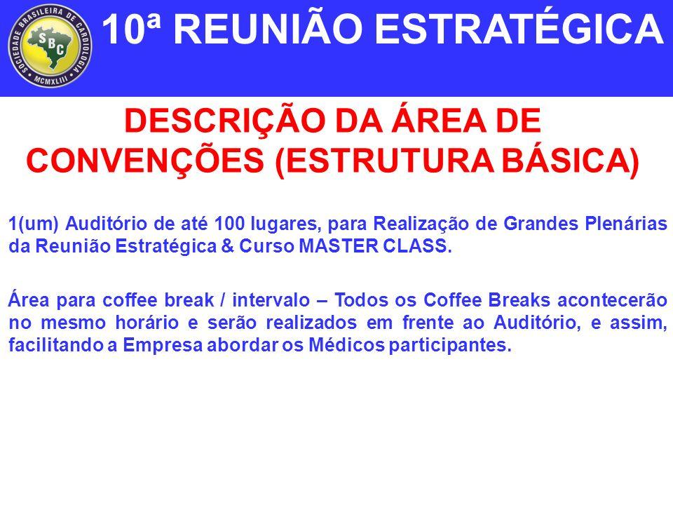 1(um) Auditório de até 100 lugares, para Realização de Grandes Plenárias da Reunião Estratégica & Curso MASTER CLASS.