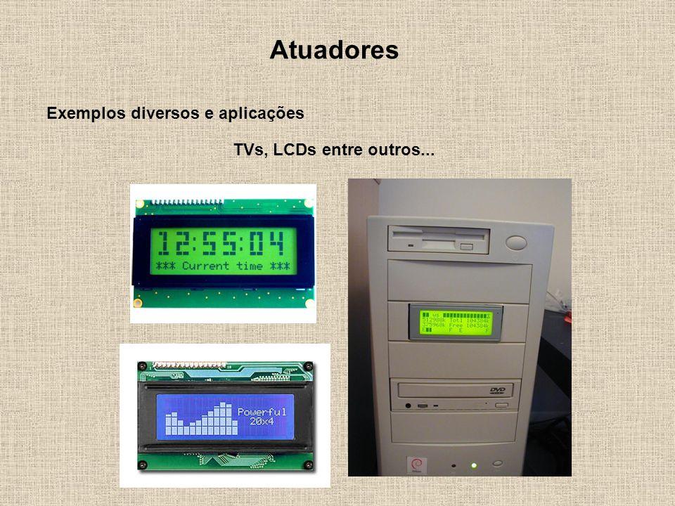 Atuadores Exemplos diversos e aplicações TVs, LCDs entre outros...