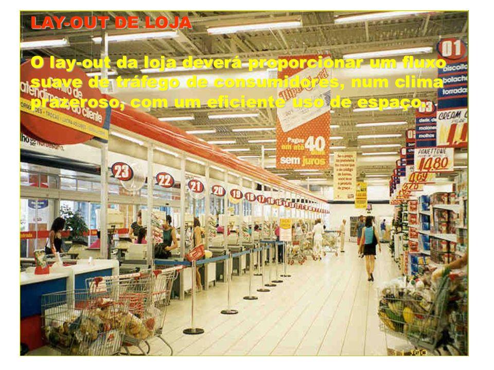 LAY-OUT DE LOJA Olay-out da loja deverá proporcionar um fluxo O lay-out da loja deverá proporcionar um fluxo suave de tráfego de consumidores, num cli