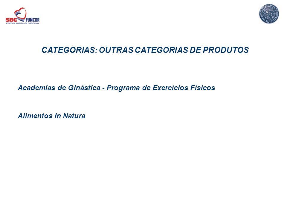Academias de Ginástica - Programa de Exercícios Físicos Alimentos In Natura CATEGORIAS: OUTRAS CATEGORIAS DE PRODUTOS