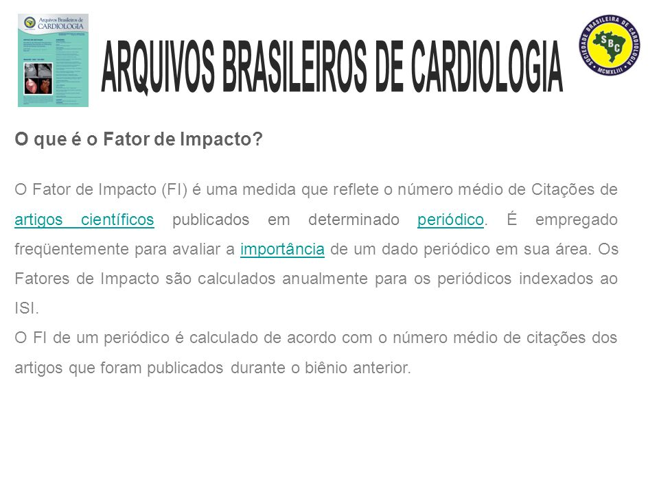 Inserção de Marcador de Página nos Arquivos Brasileiros de Cardiologia.