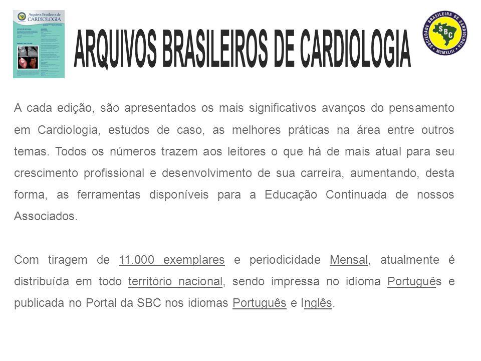 A cada edição, são apresentados os mais significativos avanços do pensamento em Cardiologia, estudos de caso, as melhores práticas na área entre outro