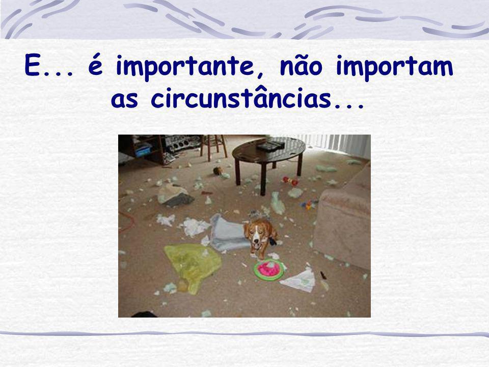 E... é importante, não importam as circunstâncias...