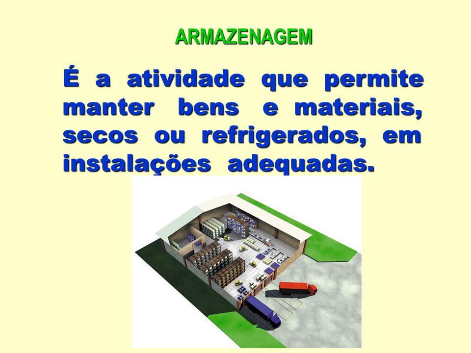 Codificação, cadastramento no sistema de controle e endereçamento em local apropriado de acordo com as características do produto.