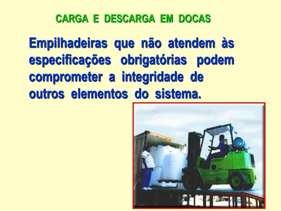 CARGA E DESCARGA EM DOCAS As diretrizes visam propiciar : uma eficiente operação em ambientes uso interno.