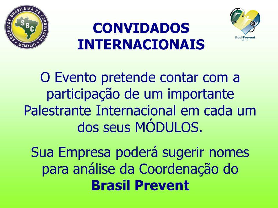 CONVIDADOS INTERNACIONAIS O Evento pretende contar com a participação de um importante Palestrante Internacional em cada um dos seus MÓDULOS.