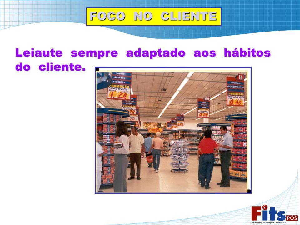 FOCO NO CLIENTE Leiaute sempre adaptado aos hábitos do cliente.