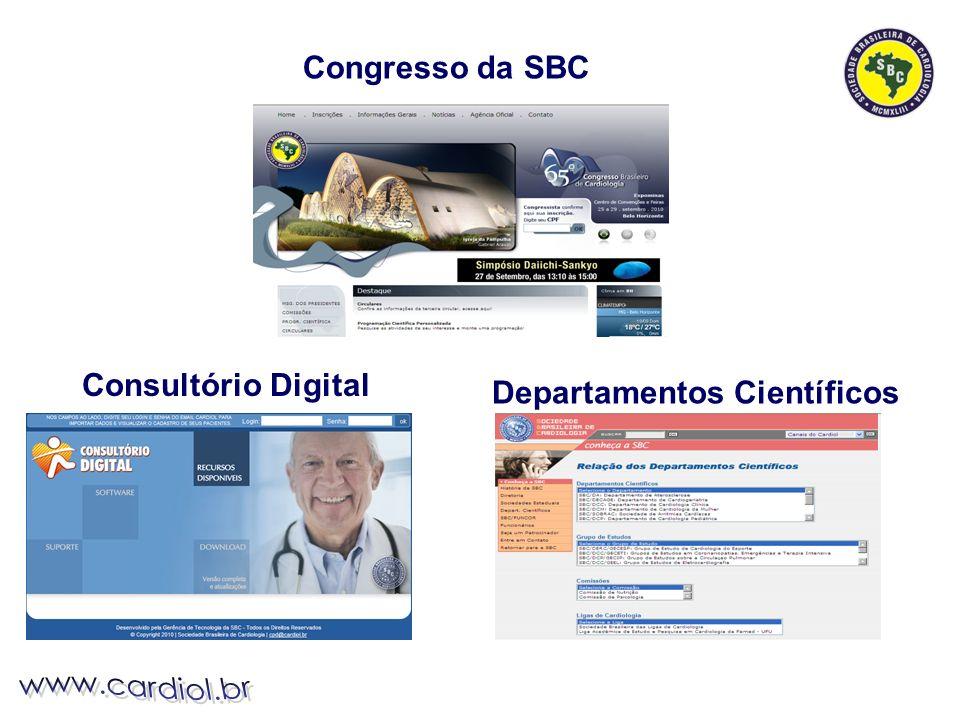 Departamentos Científicos Consultório Digital Congresso da SBC