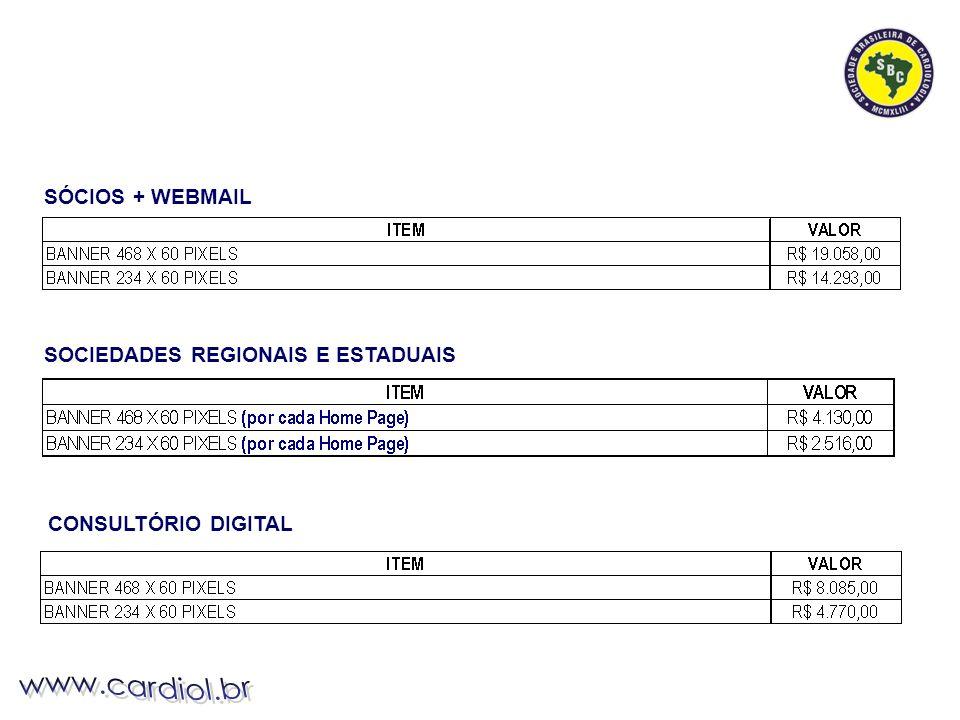 SÓCIOS + WEBMAIL SOCIEDADES REGIONAIS E ESTADUAIS CONSULTÓRIO DIGITAL